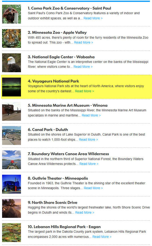 Top 10 Minnesota Attractions